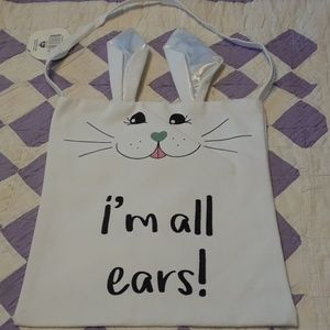 Other - Rabbit canvas tote